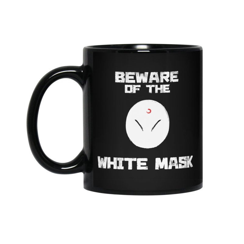 The White Mask Accessories Standard Mug by Hound Picked Games