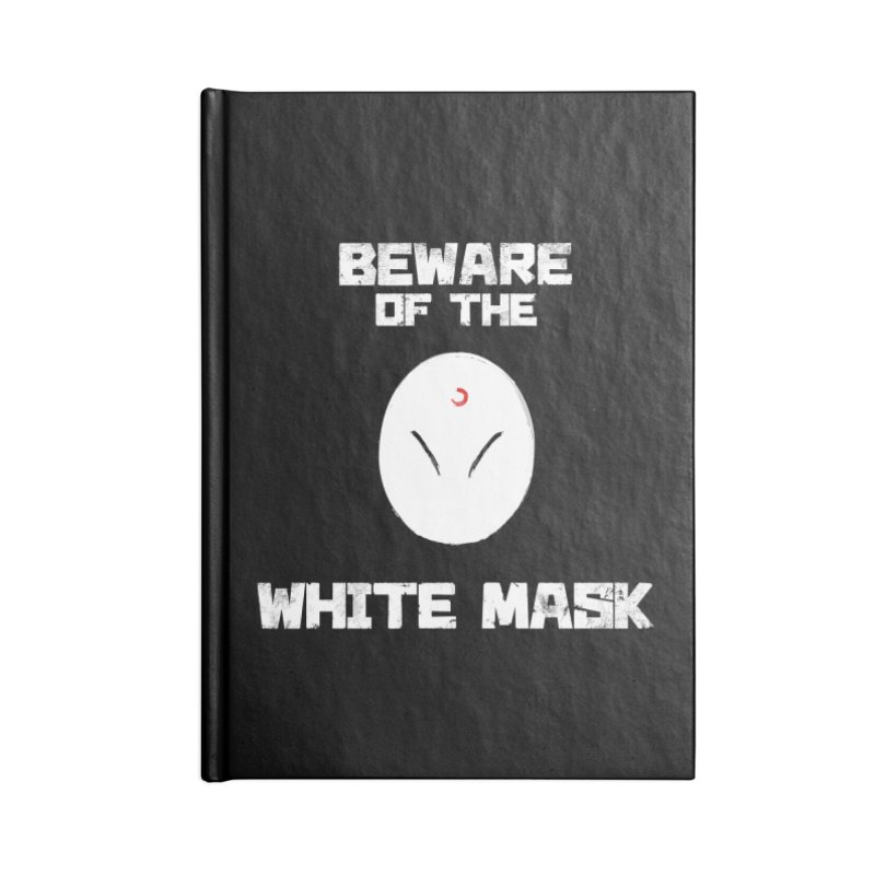 The White Mask Accessories Lined Journal Notebook by Hound Picked Games