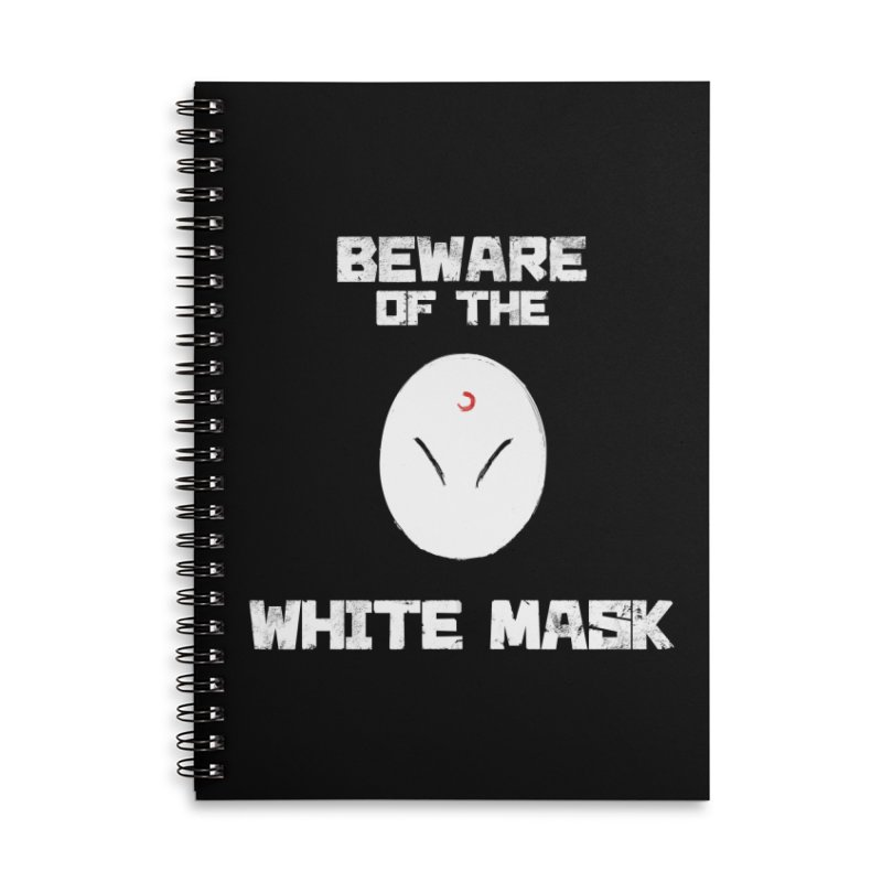 The White Mask Accessories Lined Spiral Notebook by Hound Picked Games