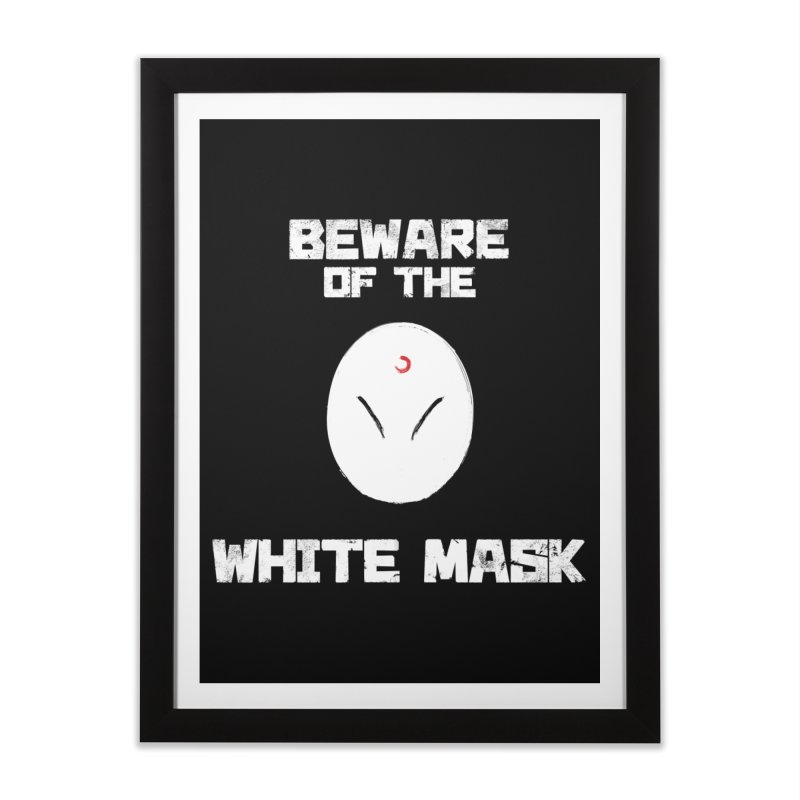 The White Mask Home Framed Fine Art Print by Hound Picked Games