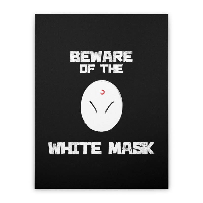 The White Mask Home Stretched Canvas by Hound Picked Games