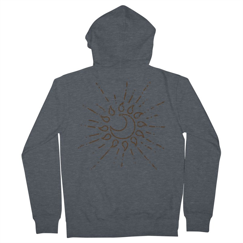 The Soluna Faith (Brown) Men's French Terry Zip-Up Hoody by Hound Picked Games