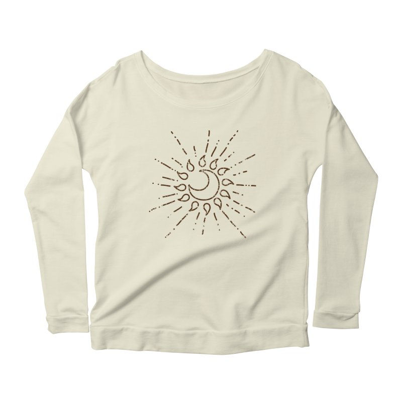 The Soluna Faith (Brown) Women's Scoop Neck Longsleeve T-Shirt by Hound Picked Games