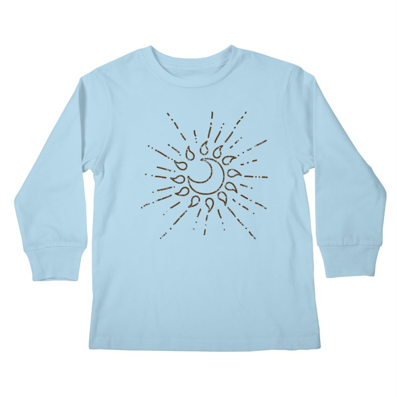The Soluna Faith (Brown) Kids Longsleeve T-Shirt by Hound Picked Games