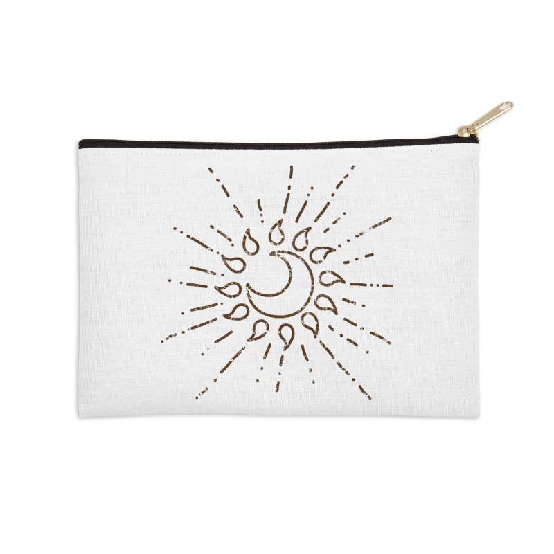 The Soluna Faith (Brown) Accessories Zip Pouch by Hound Picked Games