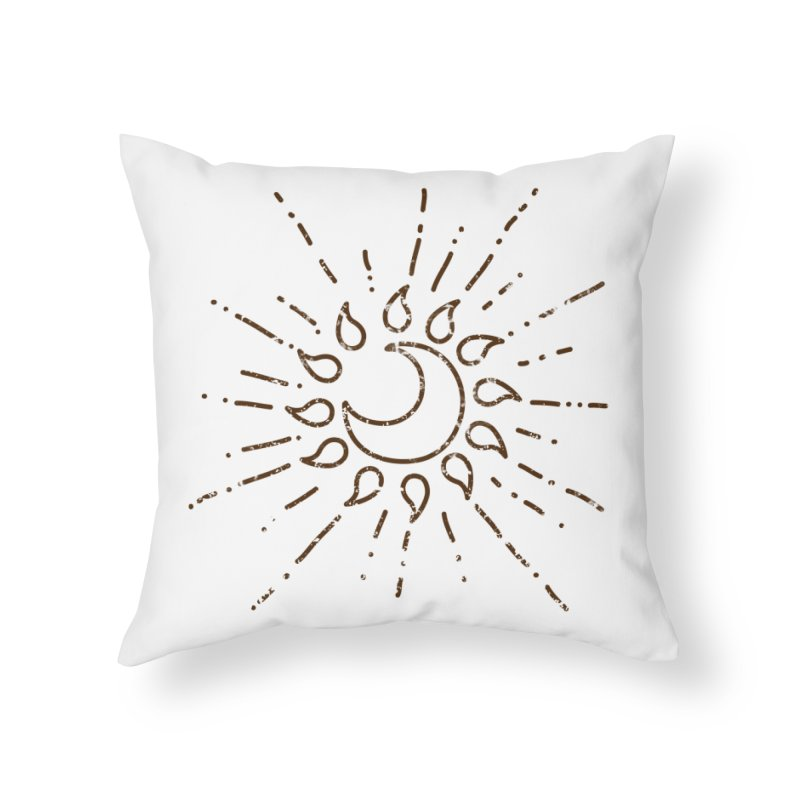 The Soluna Faith (Brown) Home Throw Pillow by Hound Picked Games