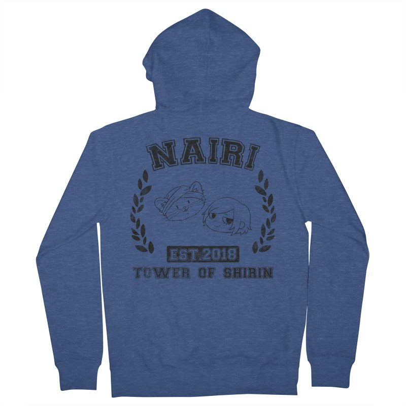 Sporty Nairi & Rex! (Black) Women's Zip-Up Hoody by Hound Picked Games