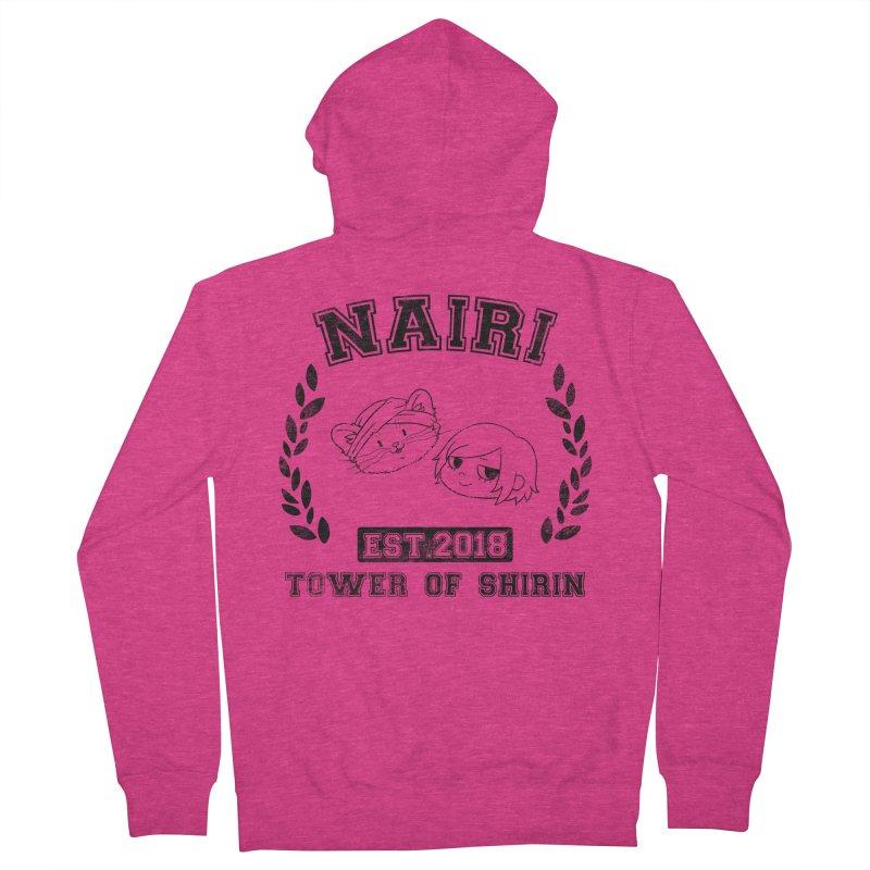 Sporty Nairi & Rex! (Black) Women's Zip-Up Hoody by Hound Picked Games