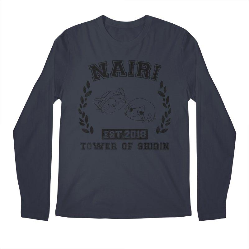 Sporty Nairi & Rex! (Black) Men's Regular Longsleeve T-Shirt by Hound Picked Games