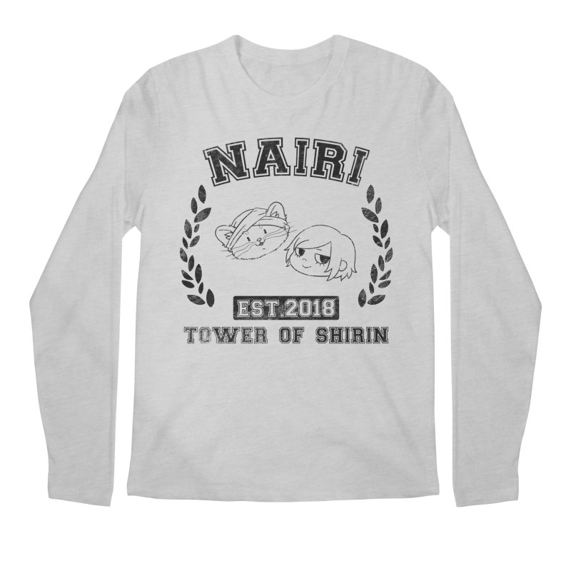 Sporty Nairi & Rex! (Black) Men's Regular Longsleeve T-Shirt by Hound Picked Games