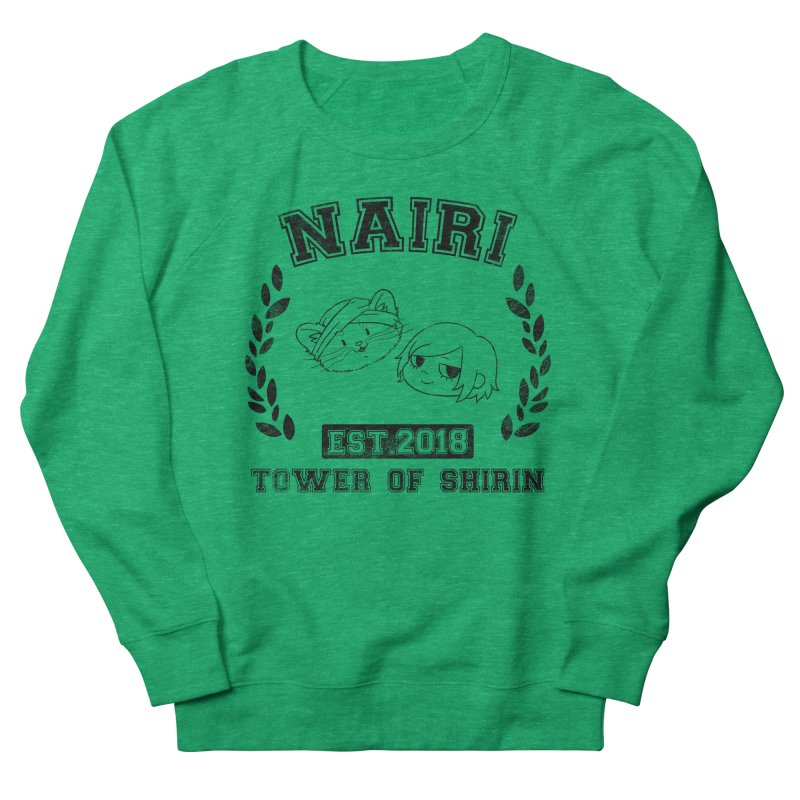 Sporty Nairi & Rex! (Black) Women's French Terry Sweatshirt by Hound Picked Games