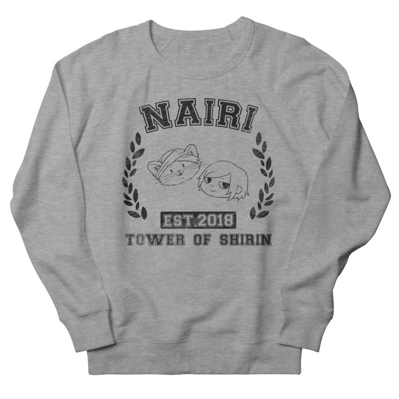 Sporty Nairi & Rex! (Black) Women's French Terry Sweatshirt by Hound Picked Games