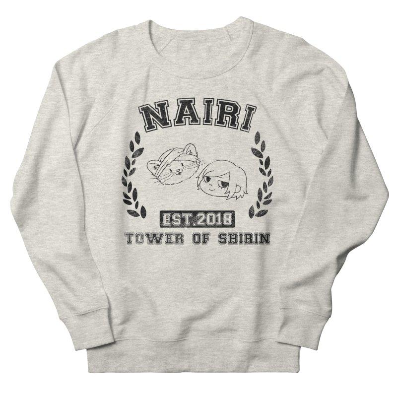 Sporty Nairi & Rex! (Black) Men's French Terry Sweatshirt by Hound Picked Games