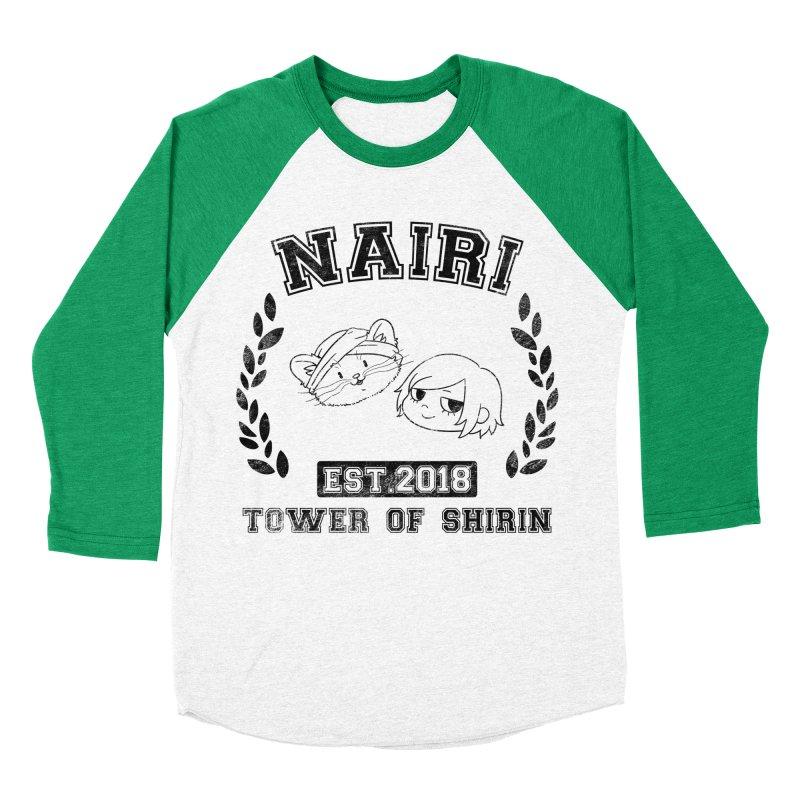 Sporty Nairi & Rex! (Black) Women's Baseball Triblend Longsleeve T-Shirt by Hound Picked Games