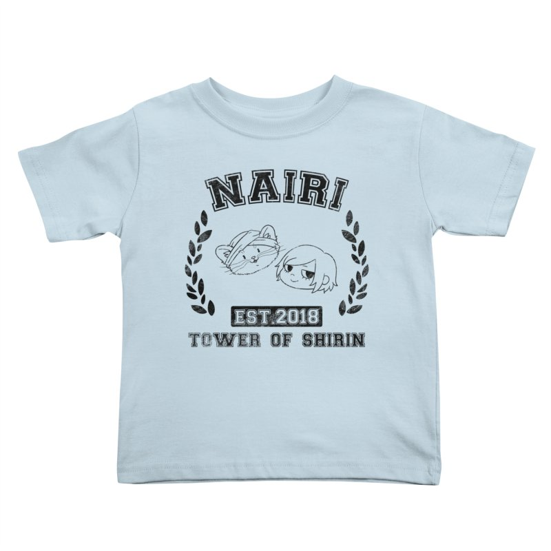Sporty Nairi & Rex! (Black) Kids Toddler T-Shirt by Hound Picked Games