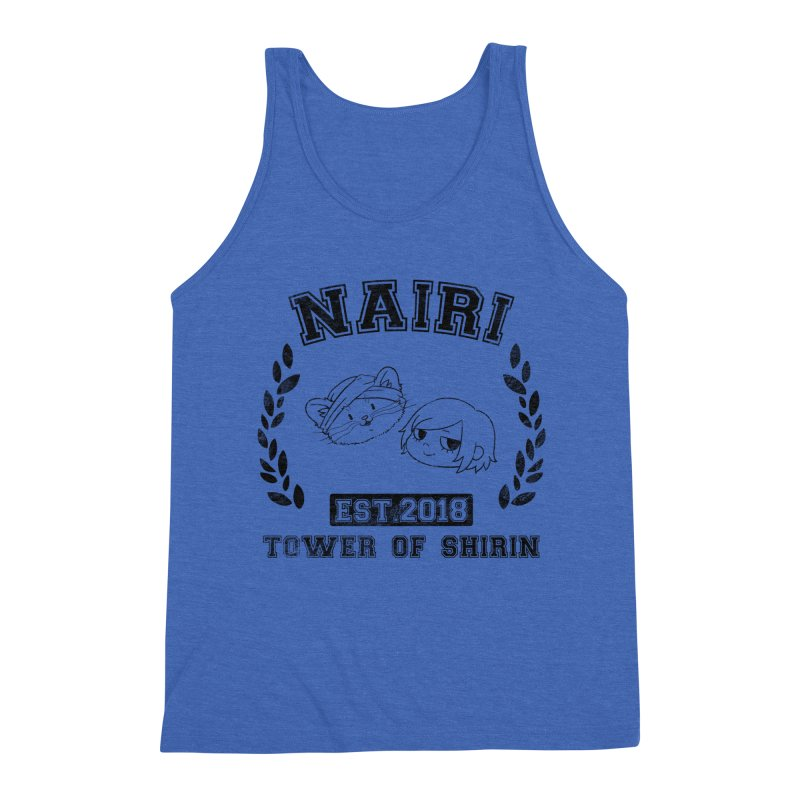 Sporty Nairi & Rex! (Black) Men's Triblend Tank by Hound Picked Games