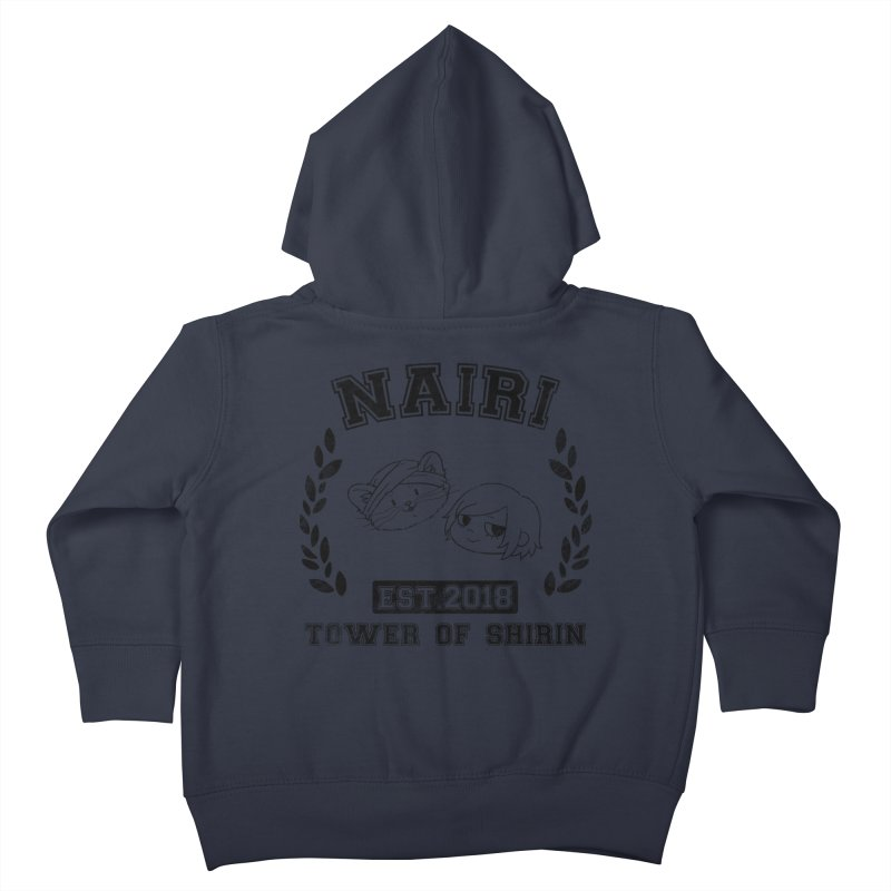 Sporty Nairi & Rex! (Black) Kids Toddler Zip-Up Hoody by Hound Picked Games