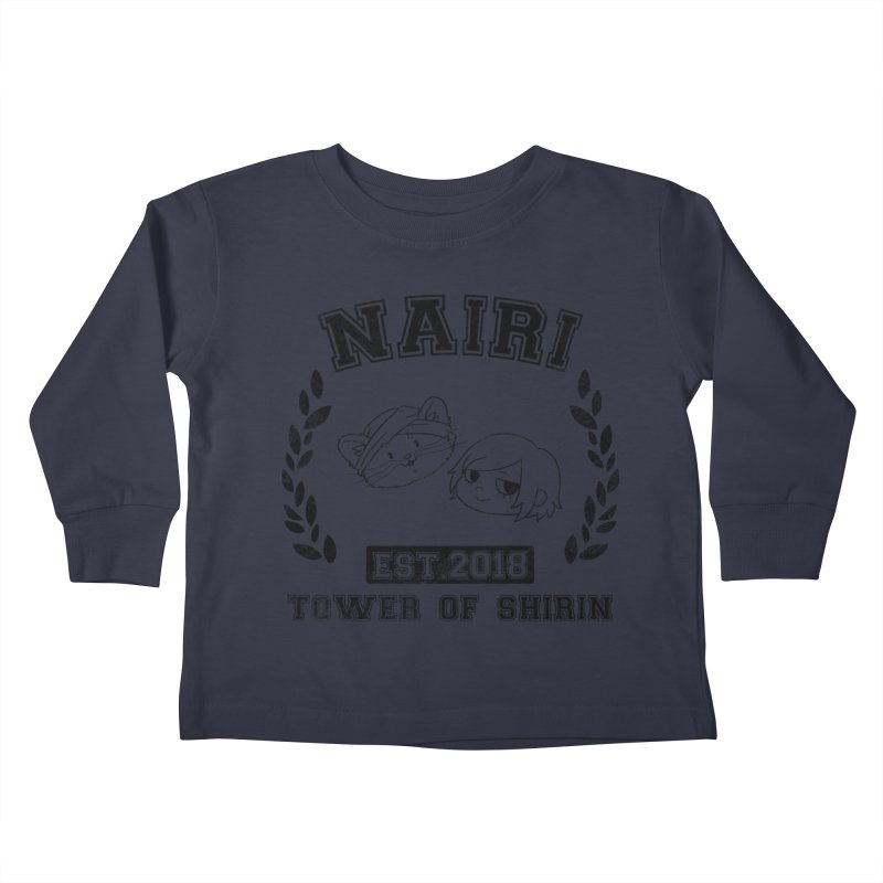 Sporty Nairi & Rex! (Black) Kids Toddler Longsleeve T-Shirt by Hound Picked Games