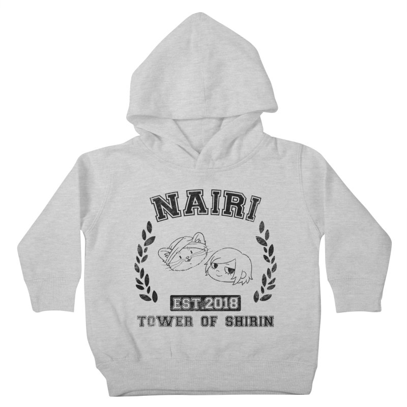 Sporty Nairi & Rex! (Black) Kids Toddler Pullover Hoody by Hound Picked Games