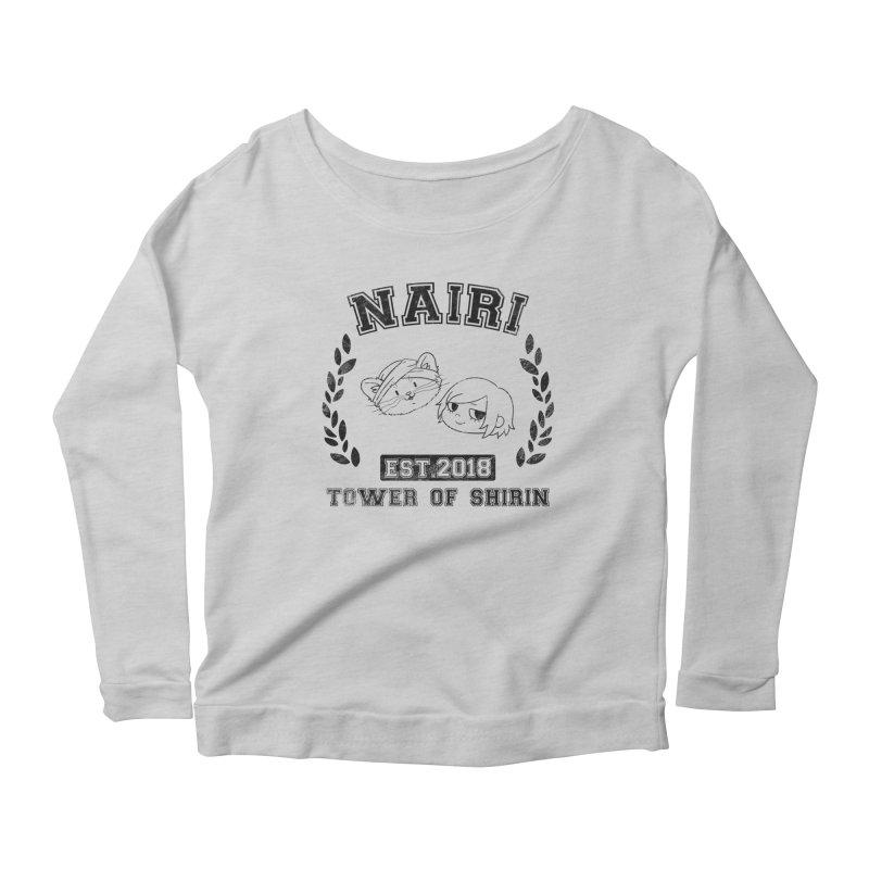 Sporty Nairi & Rex! (Black) Women's Scoop Neck Longsleeve T-Shirt by Hound Picked Games