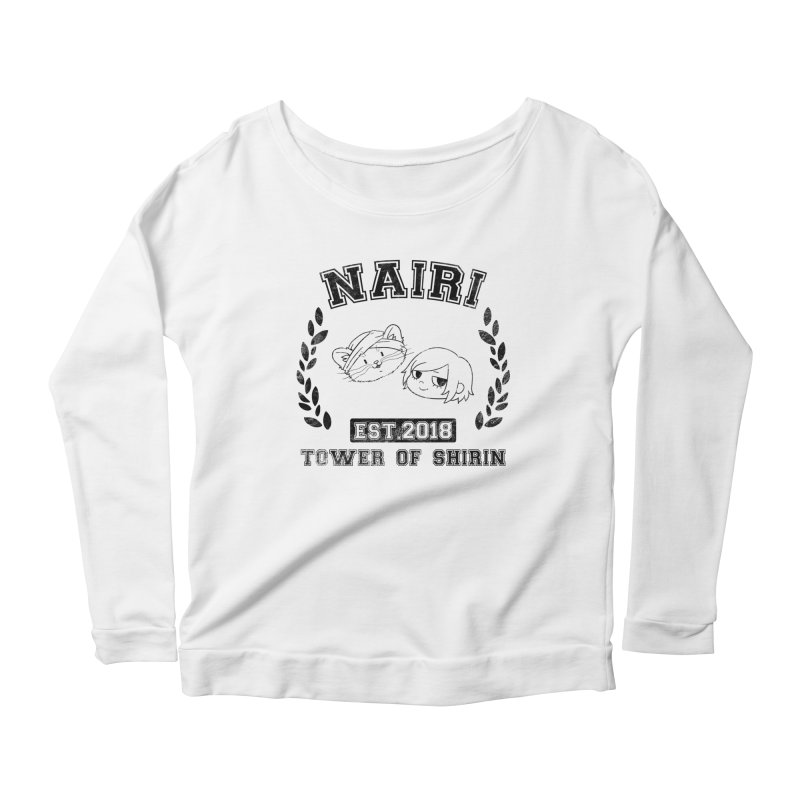 Sporty Nairi & Rex! (Black) Women's Scoop Neck Longsleeve T-Shirt by Hound Picked Games
