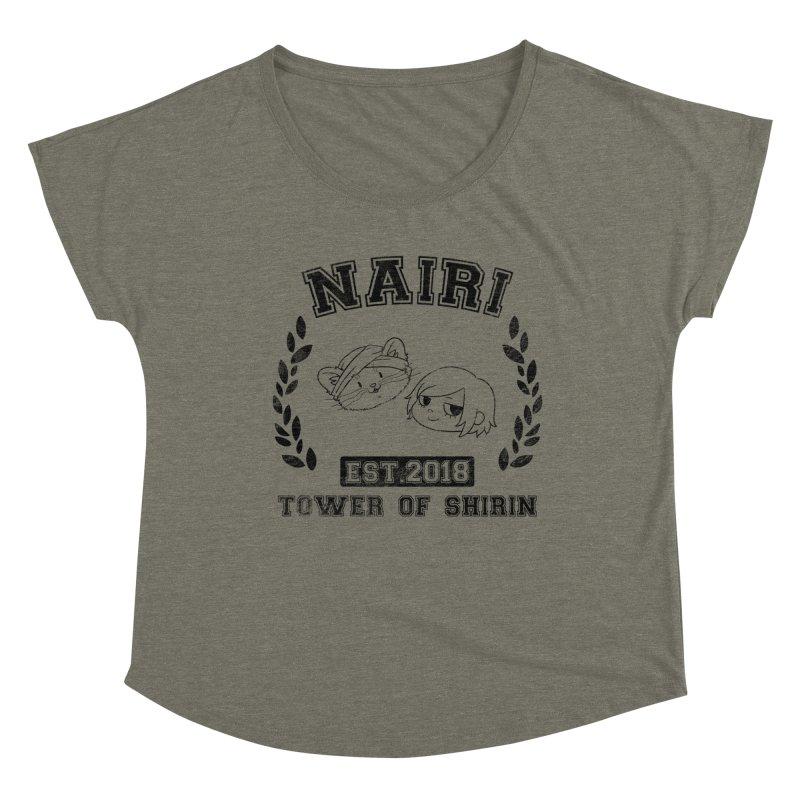 Sporty Nairi & Rex! (Black) Women's Dolman Scoop Neck by Hound Picked Games