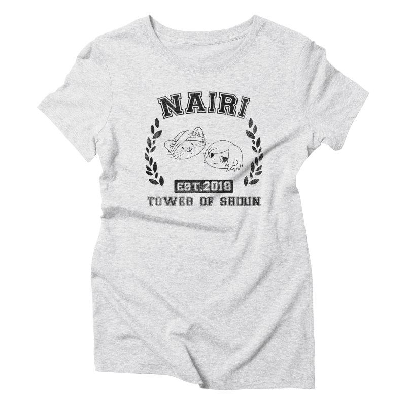 Sporty Nairi & Rex! (Black) Women's Triblend T-Shirt by Hound Picked Games