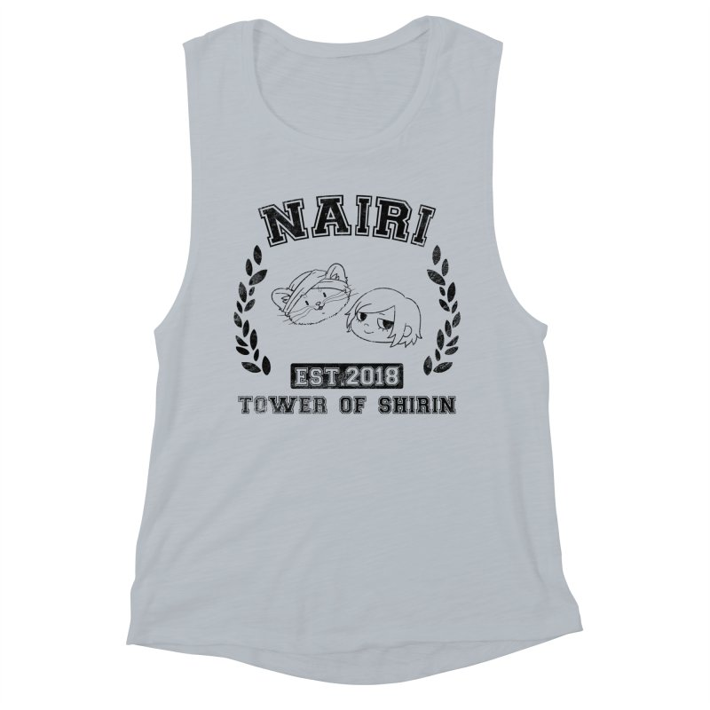 Sporty Nairi & Rex! (Black) Women's Muscle Tank by Hound Picked Games