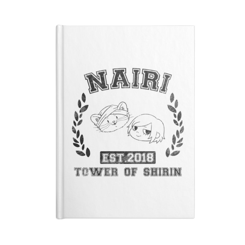Sporty Nairi & Rex! (Black) Accessories Lined Journal Notebook by Hound Picked Games