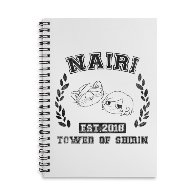 Sporty Nairi & Rex! (Black) Accessories Lined Spiral Notebook by Hound Picked Games