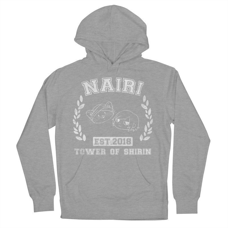 Sporty Nairi & Rex! (White) Men's French Terry Pullover Hoody by Hound Picked Games
