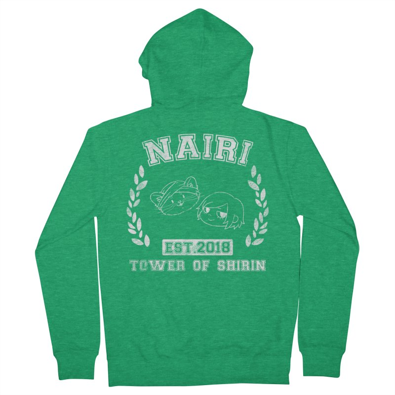 Sporty Nairi & Rex! (White) Women's French Terry Zip-Up Hoody by Hound Picked Games