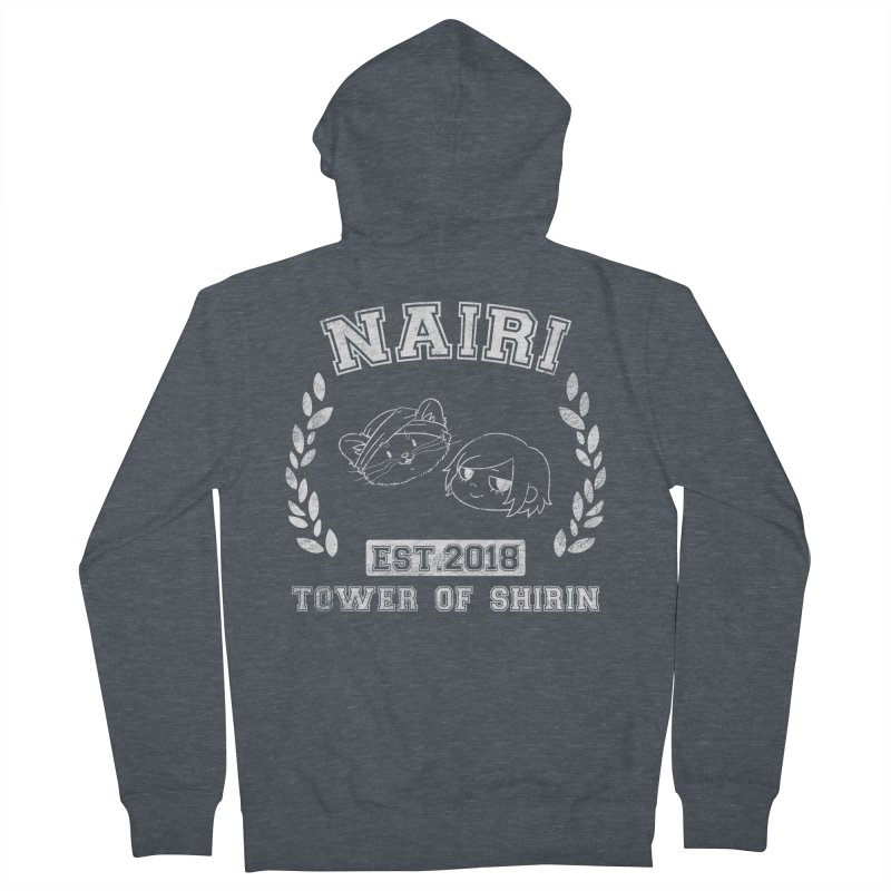 Sporty Nairi & Rex! (White) Women's Zip-Up Hoody by Hound Picked Games