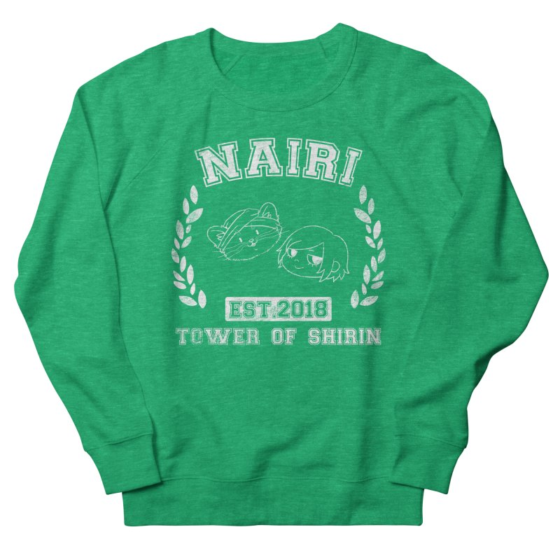 Sporty Nairi & Rex! (White) Men's French Terry Sweatshirt by Hound Picked Games