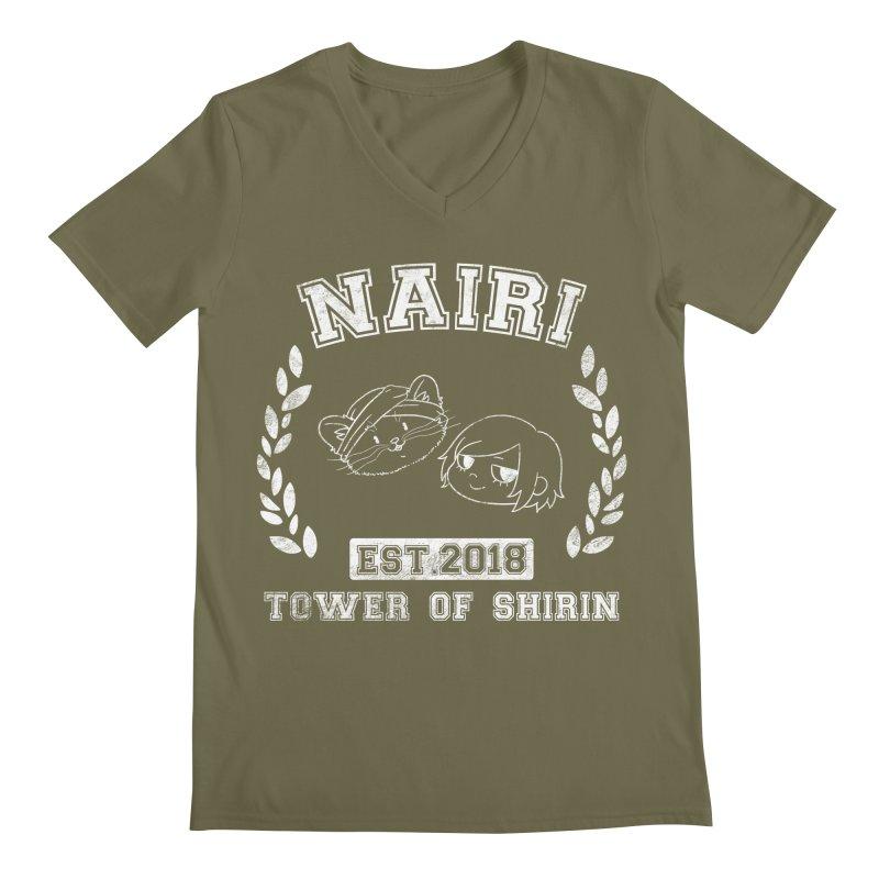 Sporty Nairi & Rex! (White) Men's Regular V-Neck by Hound Picked Games