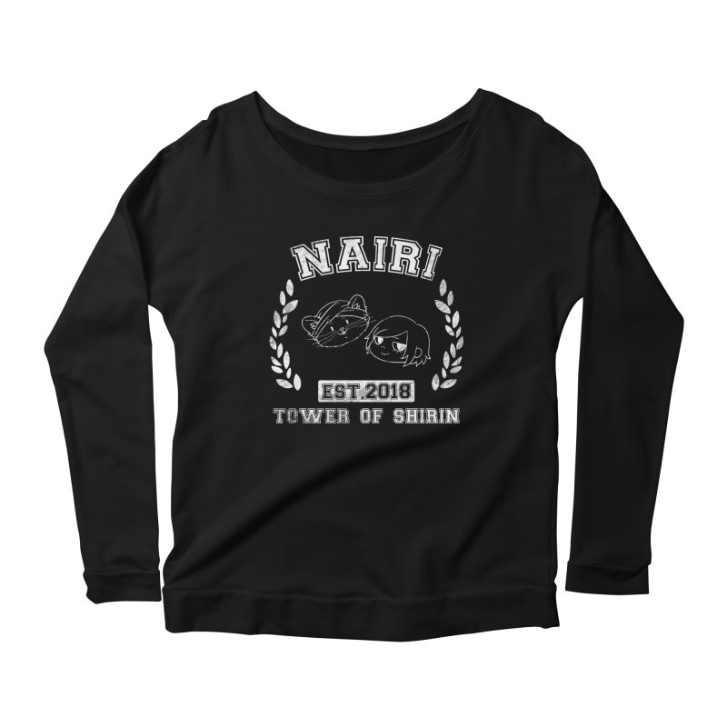 Sporty Nairi & Rex! (White) Women's Scoop Neck Longsleeve T-Shirt by Hound Picked Games