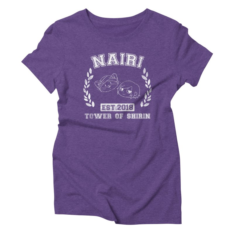 Sporty Nairi & Rex! (White) Women's Triblend T-Shirt by Hound Picked Games