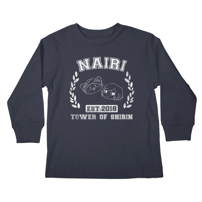 Sporty Nairi & Rex! (White) Kids Longsleeve T-Shirt by Hound Picked Games