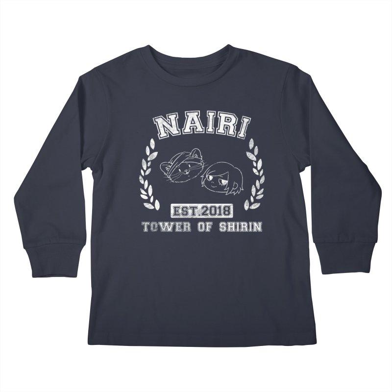 Sporty Nairi & Rex! (White) Kids Longsleeve T-Shirt by Hound Picked Games