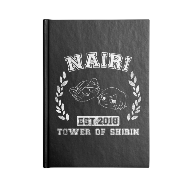 Sporty Nairi & Rex! (White) Accessories Lined Journal Notebook by Hound Picked Games