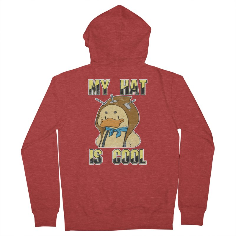 Is Your Hat Cool? Men's French Terry Zip-Up Hoody by Hound Picked Games
