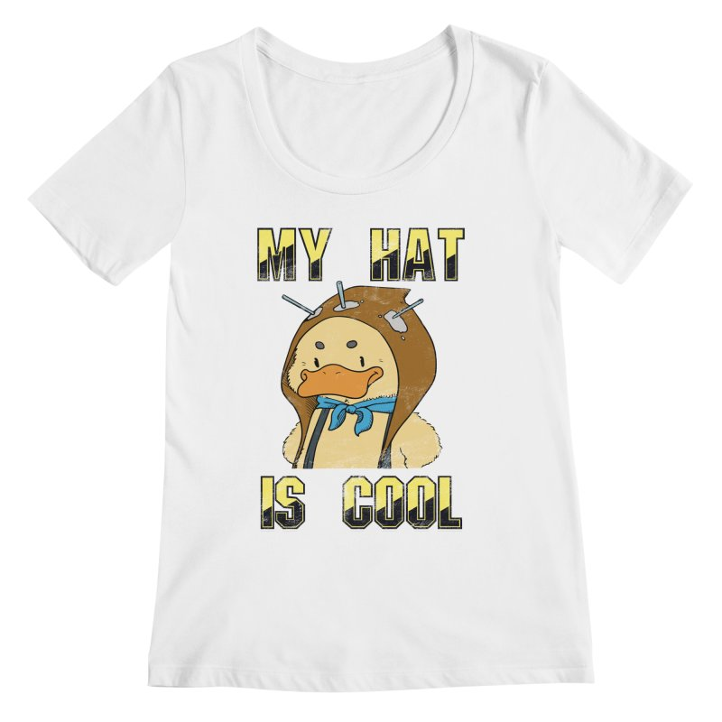 Is Your Hat Cool? Women's Regular Scoop Neck by Hound Picked Games