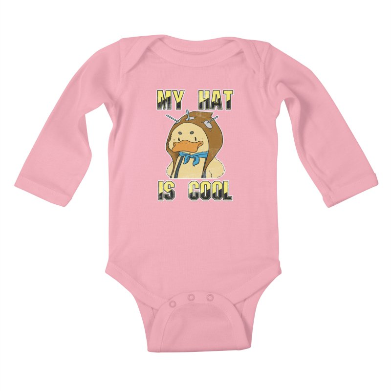 Is Your Hat Cool? Kids Baby Longsleeve Bodysuit by Hound Picked Games