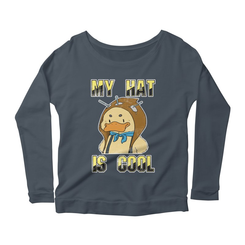 Is Your Hat Cool? Women's Scoop Neck Longsleeve T-Shirt by Hound Picked Games