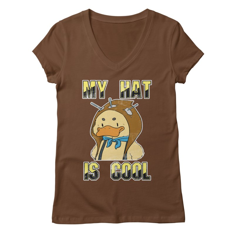 Is Your Hat Cool? Women's Regular V-Neck by Hound Picked Games