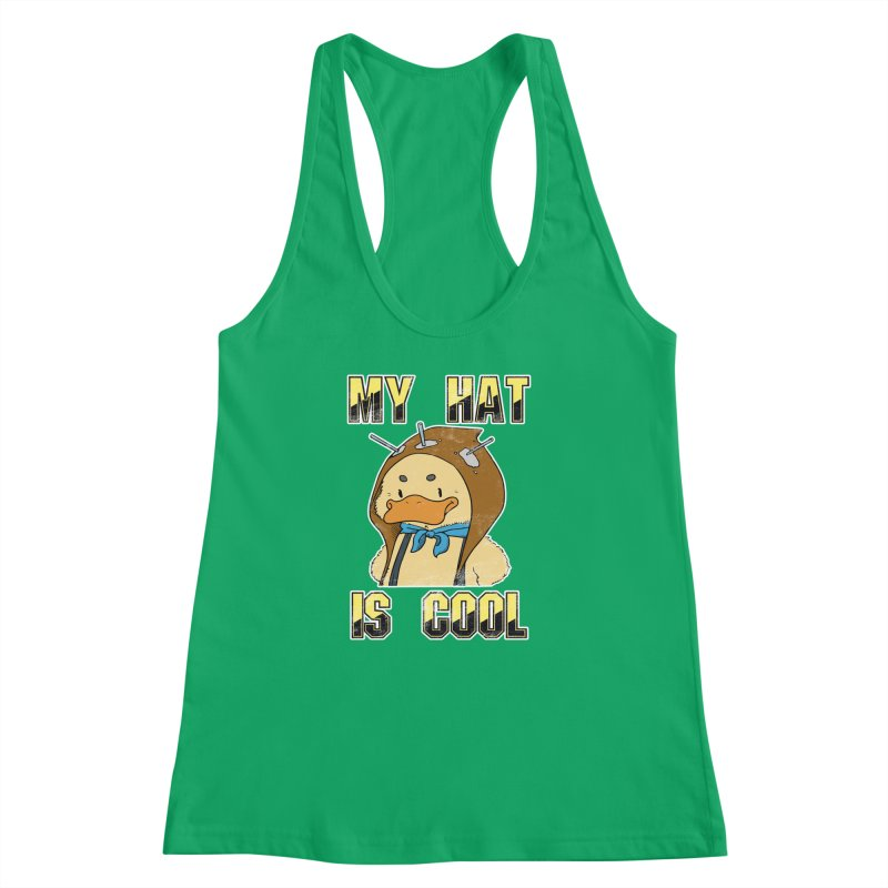 Is Your Hat Cool? Women's Racerback Tank by Hound Picked Games