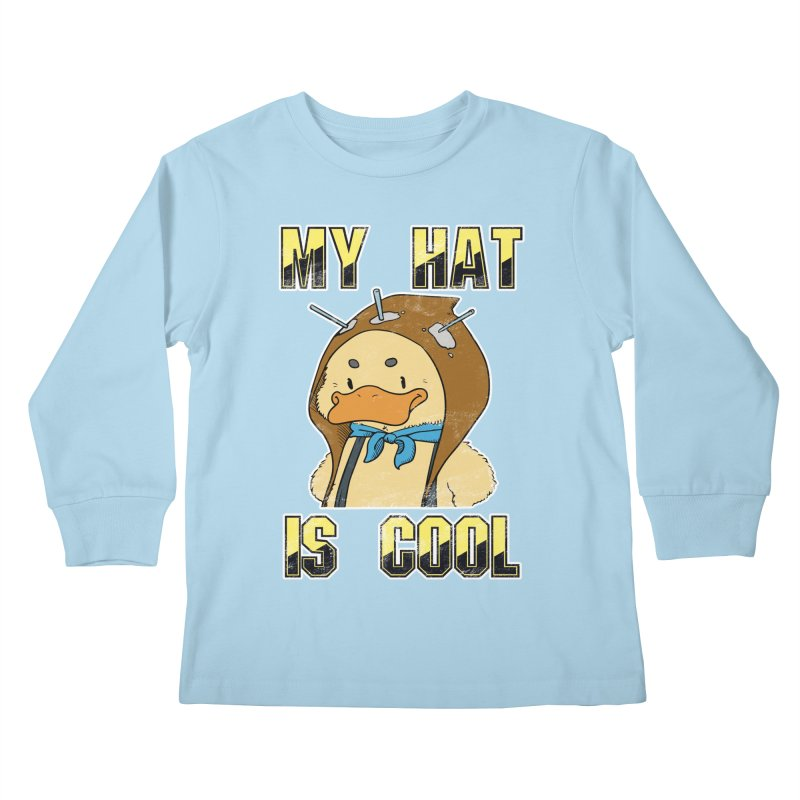 Is Your Hat Cool? Kids Longsleeve T-Shirt by Hound Picked Games