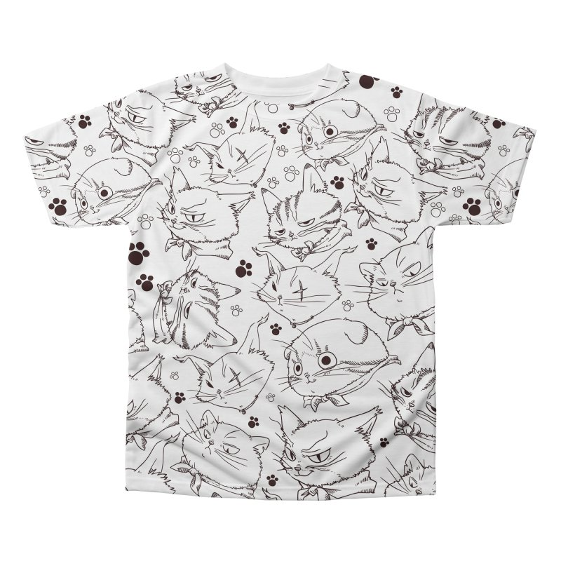 A Whole Bunch of Cats! (Brown) Men's Regular All Over Print by Hound Picked Games