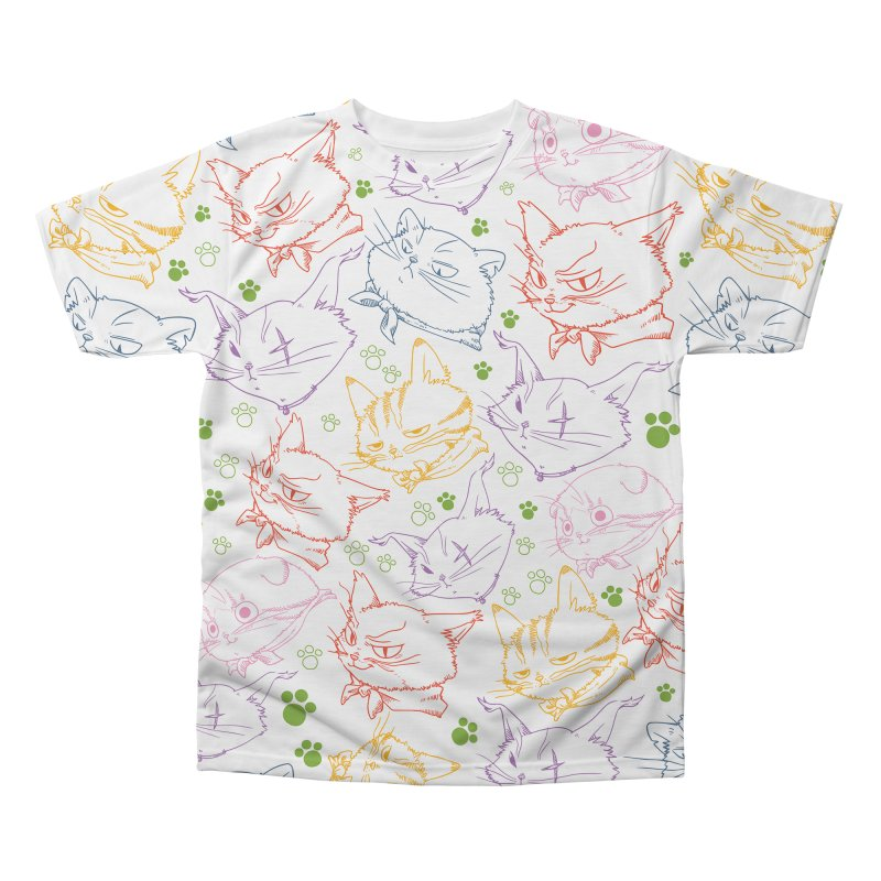 A Whole Bunch of Cats! (Coloured) Men's Regular All Over Print by Hound Picked Games