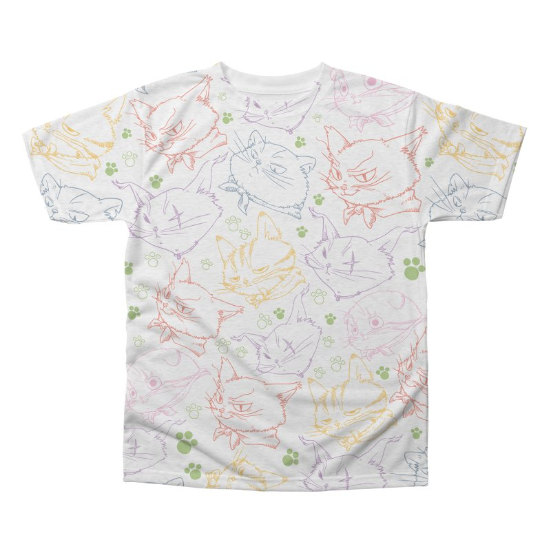 A Whole Bunch of Cats! (Coloured) Men's Triblend All Over Print by Hound Picked Games